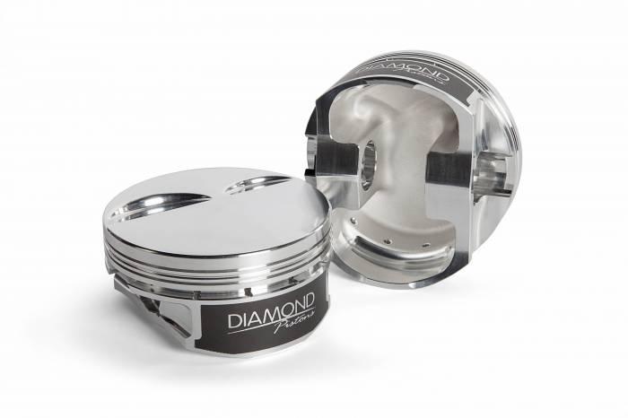 Diamond Racing - Pistons - Diamond Pistons 11507-R2-8 Chevy LS1 Street/Strip Flat Top Series