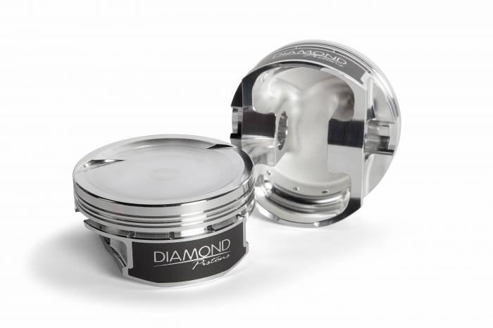 Diamond Racing - Pistons - Diamond Pistons 11553-R1-8 Chevy LS Street Strip Dish Series