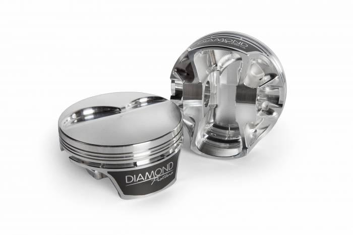 Diamond Racing - Pistons - Diamond Pistons 11580-R1-8 Chevy LS Street Strip Dish Series