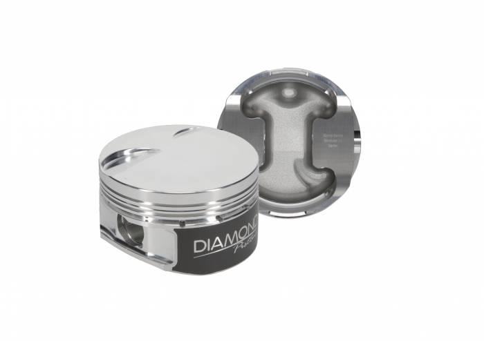 Diamond Racing - Pistons - Diamond Pistons 30409-R1-8 Ford Modular 4.6L SOHC 2V Dish Series