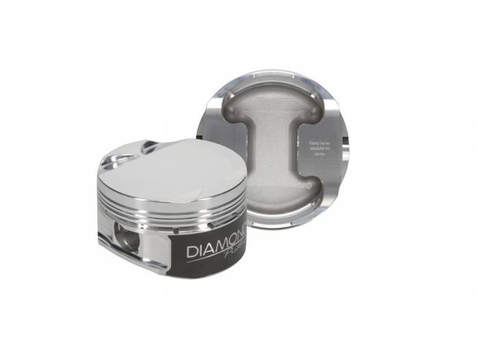 Diamond Racing - Pistons - Diamond Pistons 30421-R1-8 Ford Modular 4.6L DOHC 4V Dish Series
