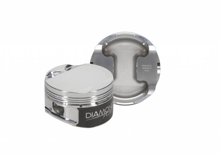 Diamond Racing - Pistons - Diamond Pistons 30423-R1-8 Ford Modular 4.6L DOHC 4V Dish Series