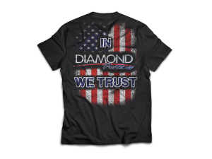 "Diamond Racing - ""In Diamond We Trust"" T-Shirt - Size 4XL (A252)"