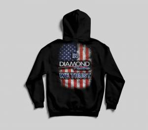 "Apparel - Hoodies - ""In Diamond We Trust"" Hoodie - Size MED (A254)"