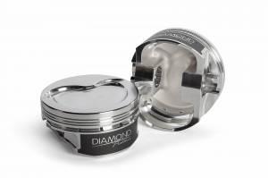 Diamond Racing - Pistons - Diamond Pistons 11515-R1-8 Chevy LS Street Strip Dish Series