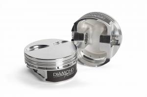 Chevy LS - LS2 Competition Series - Diamond Racing - Pistons - Diamond Pistons 11540-R1-8 Chevy LS Street Strip Flat Top Series