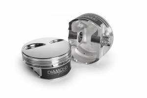 Diamond Racing - Pistons - Diamond Pistons 11546-R1-8 Chevy LS Street Strip Flat Top Series