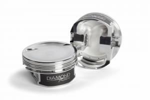Diamond Racing - Pistons - Diamond Pistons 11552-R1-8 Chevy LS Street Strip Dish Series