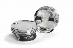 Diamond Racing - Pistons - Diamond Pistons 11555-R1-8 Chevy LS Street Strip Dish Series