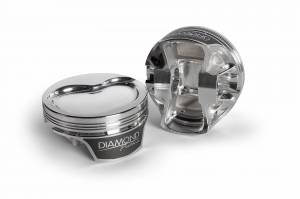 Diamond Racing - Pistons - Diamond Pistons 11596-R1-8 Chevy LS Street Strip Dish Series