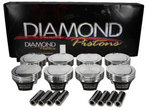 6.2L Hemi - 6.2L HEMI2K Series - Diamond Racing - Pistons - Diamond Pistons 53208-RS-8 Hemi2K 6.2L Hellcat  Series