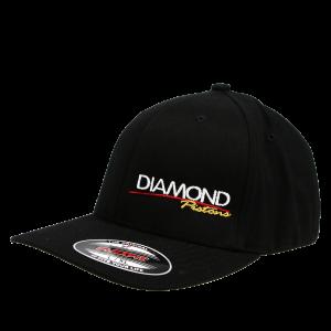 Apparel - Hats - Standard Logo Diamond Fitted Hat - Size L/XL - Color Black (A215)