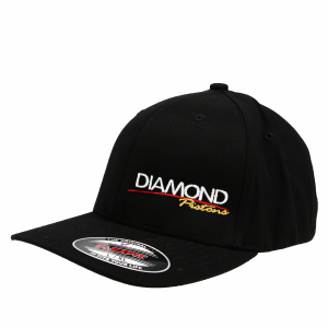 Apparel - Hats - Standard Logo Diamond Fitted Hat - Size S/M - Color Black (A214)