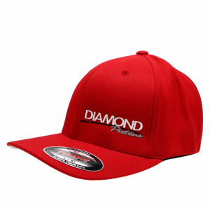 Apparel - Hats - Standard Logo Diamond Fitted Hat - Size S/M - Color Red (A216)