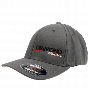 Apparel - Hats - Standard Logo Diamond Fitted Hat - Size S/M - Color Grey (A218)
