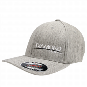 Apparel - Hats - Standard Logo Diamond Fitted Hat - Size S/M - Color Heather Grey (A234)