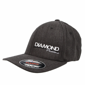 Apparel - Hats - Standard Logo Diamond Fitted Hat - Size S/M - Color Dark Heather Grey (A236)