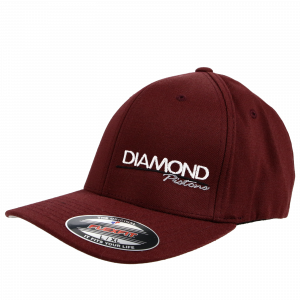 Apparel - Hats - Standard Logo Diamond Fitted Hat - Size S/M - Color Maroon (A238)