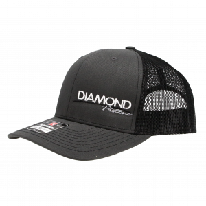 Apparel - Hats - Standard Logo Diamond Snapback Hat - One Size Fits All - Color Charcoal/Black (A240)