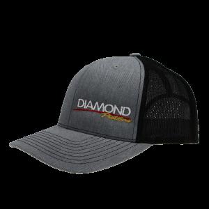 Apparel - Hats - Standard Logo Diamond Snapback Hat - One Size Fits All - Color Heather Grey/Black (A241)