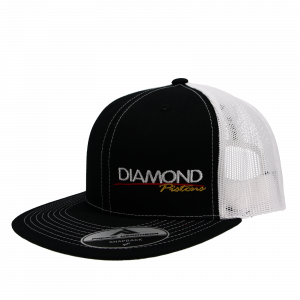 Apparel - Hats - Standard Logo Diamond Trucker Hat - One Size Fits All - Color Black/White (A242)