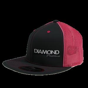 Apparel - Hats - Standard Logo Diamond Trucker Hat - Size S/M - Color Grey/Pink (A260)