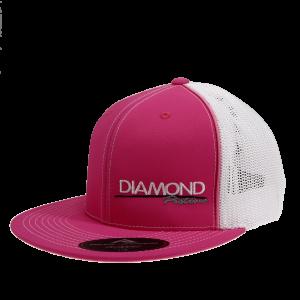 Apparel - Hats - Standard Logo Diamond Trucker Hat - Size L/XL - Color Pink/White (A245)