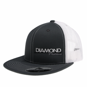 Apparel - Hats - Standard Logo Diamond Trucker Hat - One Size Fits All - Color Grey/White (A243)