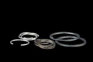 Wrist Pin Locks - Round Wire - Diamond Racing - Wrist Pin Retainer Clips - Diamond Pistons 015129T-8 Roundwire/Tanged